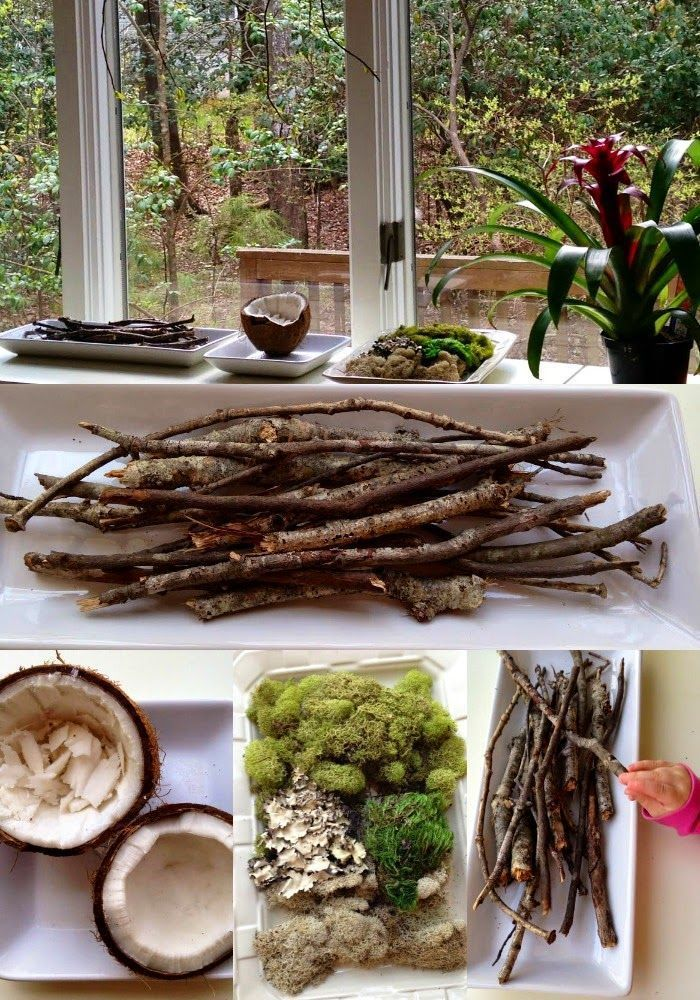 Reggio Emilia, Reggio nature table, Spring, Natural materials, Sensory Play, Waldorf, Nature, Montessori, Nature Area,Kids spaces www.naturalbeachl...