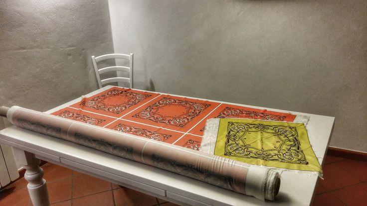 il tavolo da dove nascono tutti i progetti @frisbeescape .... #bandane #frisbee #dischi #fordogs #forhuman