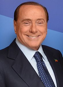 Silvio Berlusconi-- (born 29 September 1936) is an Italian media tycoon and politician who served as Prime Minister of Italy in four governments.