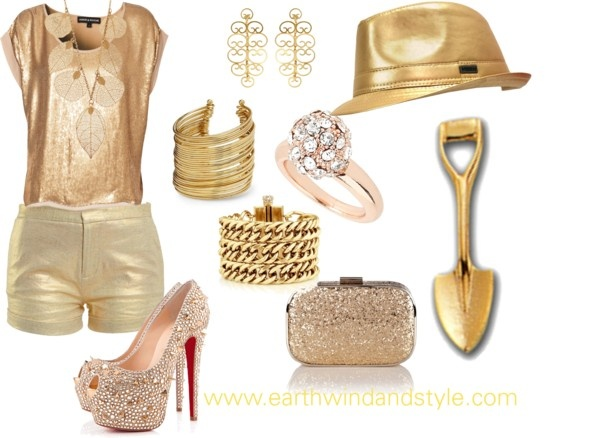 """My Gold Digger Halloween Costume"" by earthwindstyle on Polyvore"