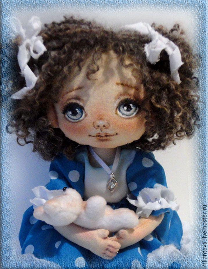 Купить Кукла.Моя малышка. - синий, кукла ручной работы, кукла, кукла в подарок