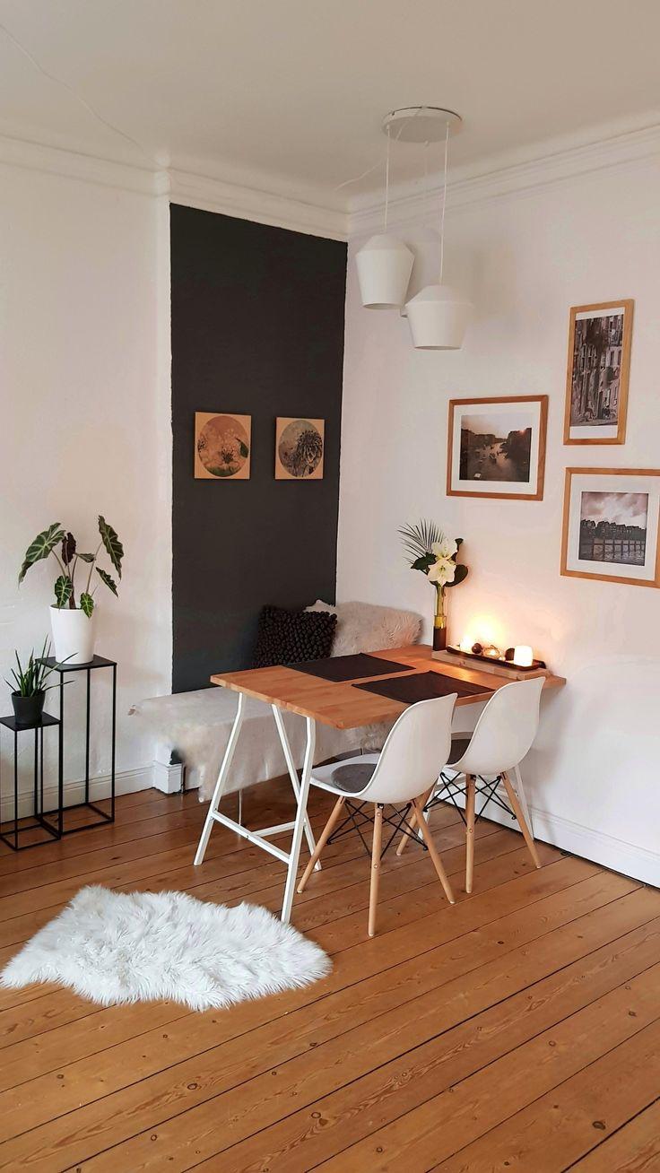 Esstisch mit Ikea Tischböcken #diyweek #diy #ikea…