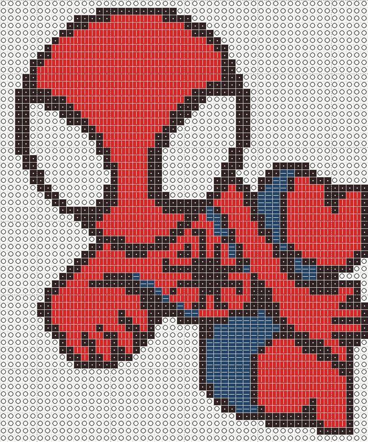 Chibi Spiderman Cross Stitch Pattern by mjoygoddess
