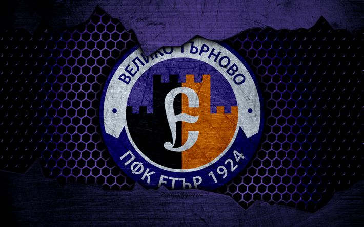 Download wallpapers Etar, 4k, logo, Parva Liga, soccer, football club, Bulgaria, SFC Etar, grunge, metal texture, Etar FC