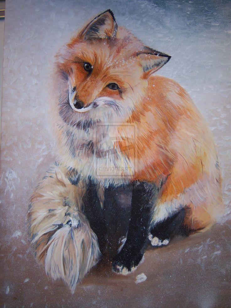 teehee  i u0026 39 m famous  fox painting by