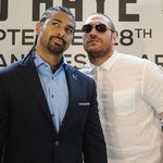 David Haye said he is just 'marking time' by fighting Tyson Fury as he waits for his chance to take on one of the Klitschko brothers.