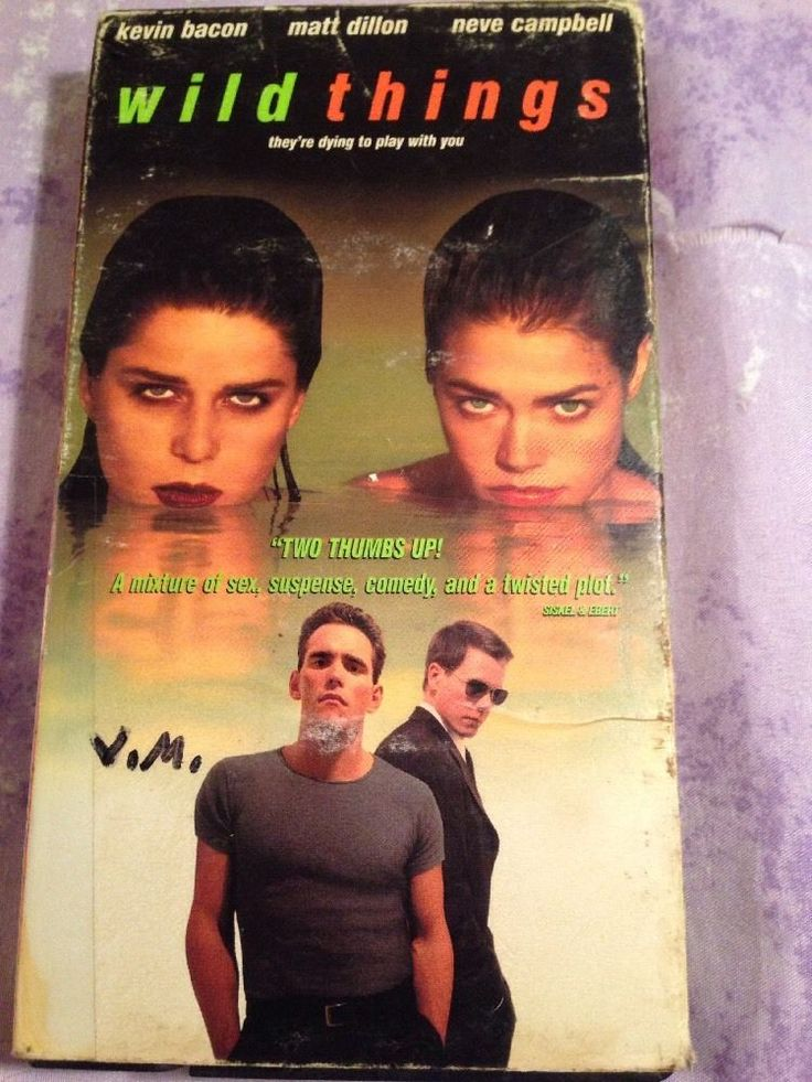Wild Things VHS Kevin Bacon Matt Dillon Denice Richards Neve Campbell