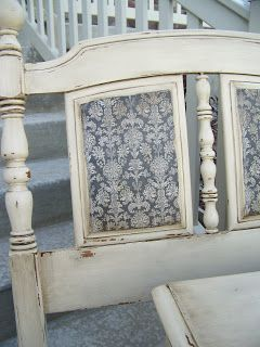 Painted furniture with scrapbook paper