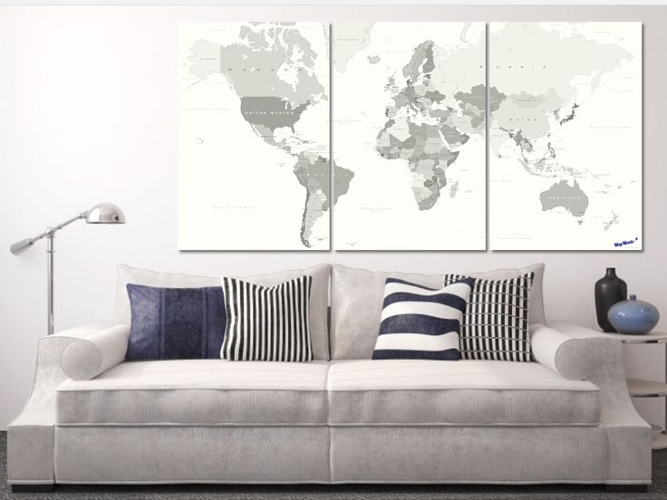 Mejores 10 imgenes de mapmento world contemporary en pinterest contemporary world map detail with flag pins measuring 60x30 and split over gumiabroncs Images