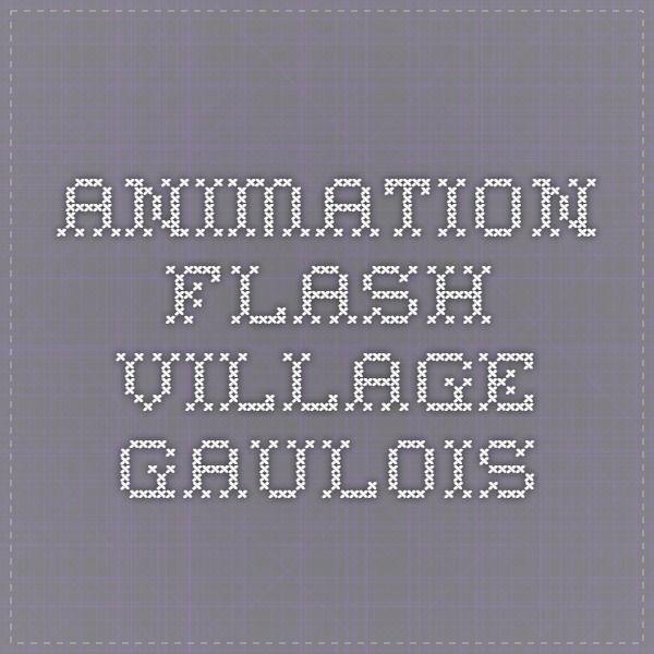animation flash village gaulois