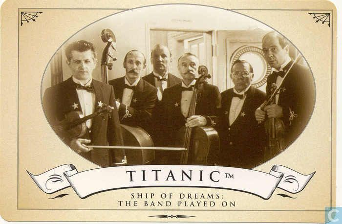 Postcards - Film: Titanic - Ship of dreams: The band played on