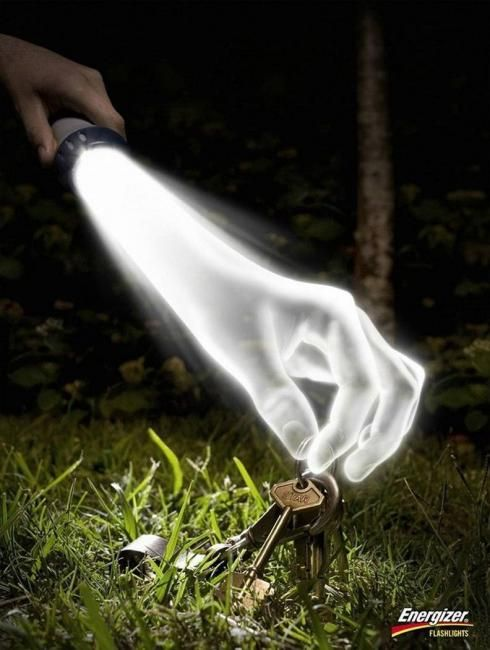 ENERGIZER FLASHLIGHTS | #ads #marketing #creative #werbung #print #poster #advertising #campaign < repinned by www.BlickeDeeler.de | Follow us on www.facebook.com/blickedeeler