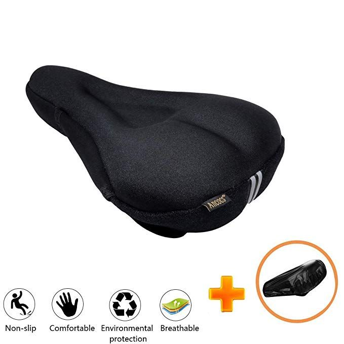 Ancocs Bicycle Seat Cushion Cover Soft Extra Silica Gel And Foam