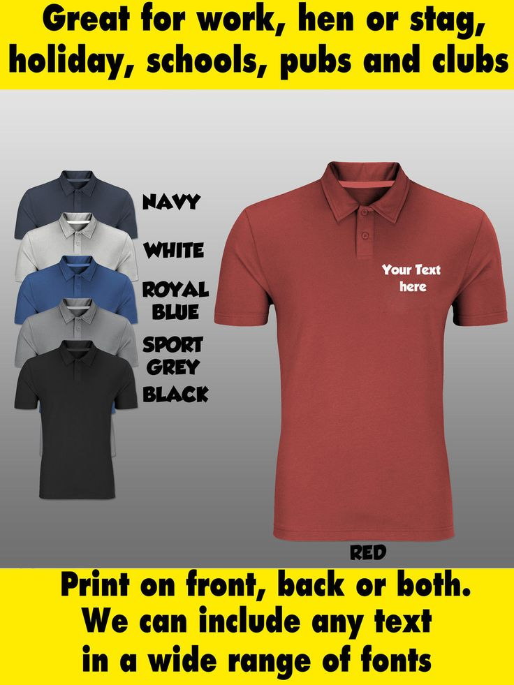 Mens or womens personalised custom #printed polo #shirt for work uniform #workwea,  View more on the LINK: 	http://www.zeppy.io/product/gb/2/400749888194/