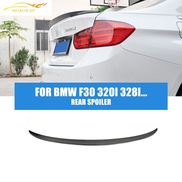 89.99$  Watch now - http://ali70h.worldwells.pw/go.php?t=32256123417 - F30 Carbon Fiber Rear Spoiler For BMW F30 320i 328i 335i 320d 328d 330d 335d 2012-2016 Auto Racing Car Trunk Lid boot lip wing