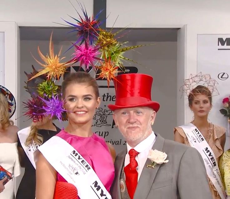 Ian Bennet and his winning headpiece at Millinery Award 2016