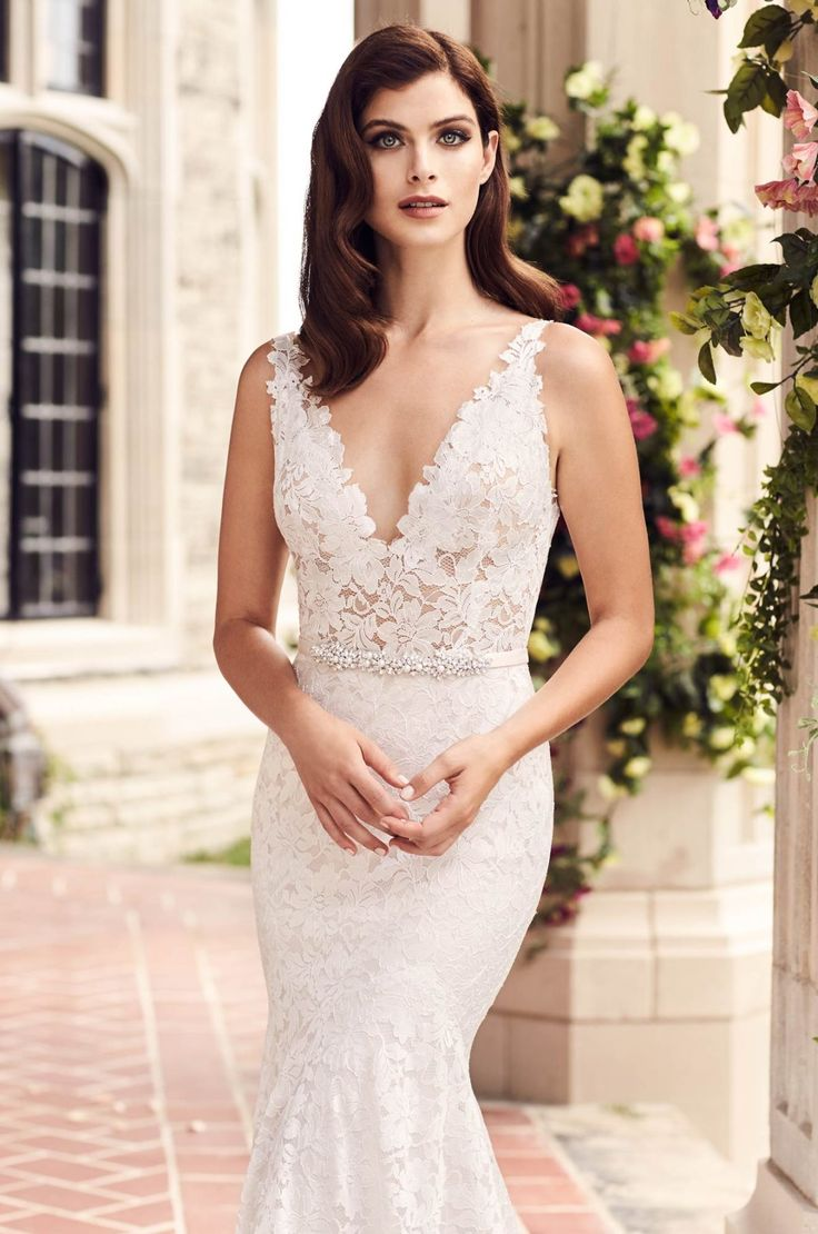 Sheer Lace Wedding Dress Style 4746 Paloma Blanca in