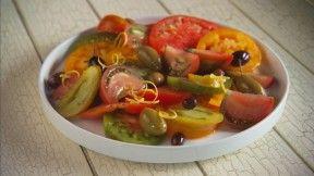 Tomato Salad with Olives and Lemon Zest