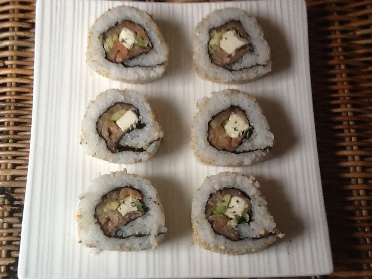 """Sushi Smoked Salmon inside out """"ready to eat"""""""