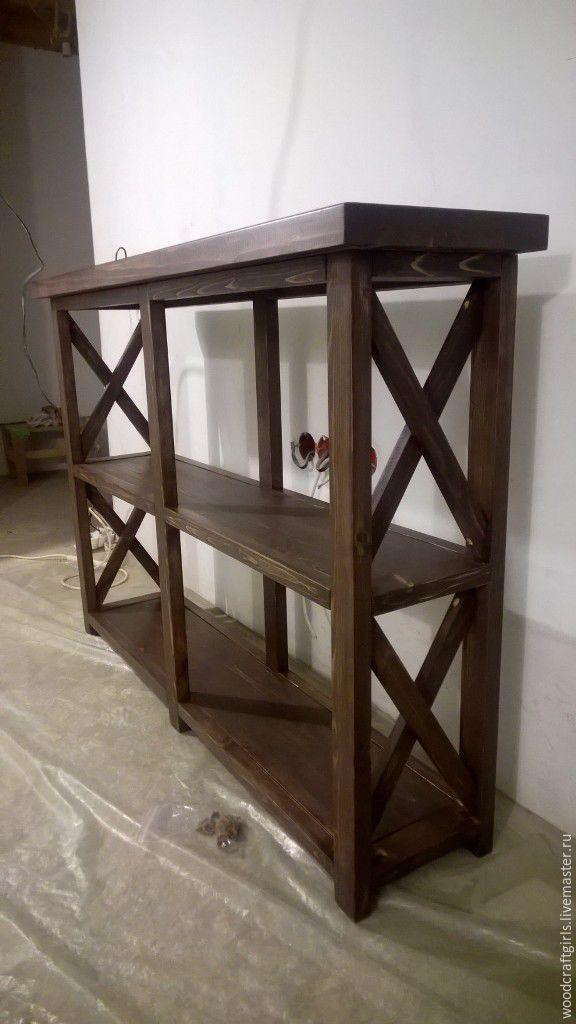 Купить Консольный стол - консоль, консольный стол, прованс, дерево, сосна, массив, на заказ
