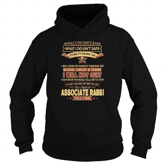 Cool and Awesome  ASSOCIATE-RABBI Shirt Hoodie