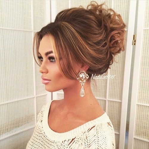 Hair wedding brunette