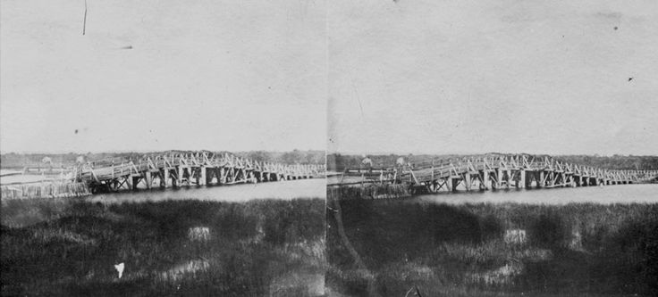 A stereoscopic image of The Causeway, circa 1862