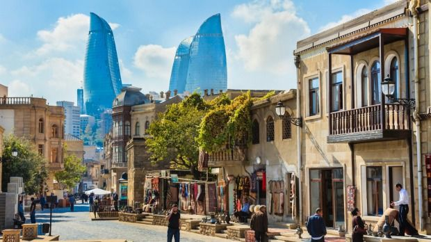 Ten countries you (probably) haven't visited - but should. [Plus read the comments] Capital of Azerbaijan, Baku, with the Flame Towers skyscrapers in the background.