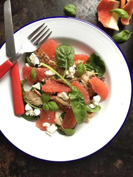 Mackerel, Grapefruit and Goats Cheese Salad by Gluten Free Rosie