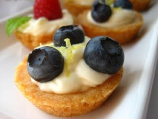 Mini Fruit Tarts...Filled with a Lemon Curd Mousse and a Shortbread ...