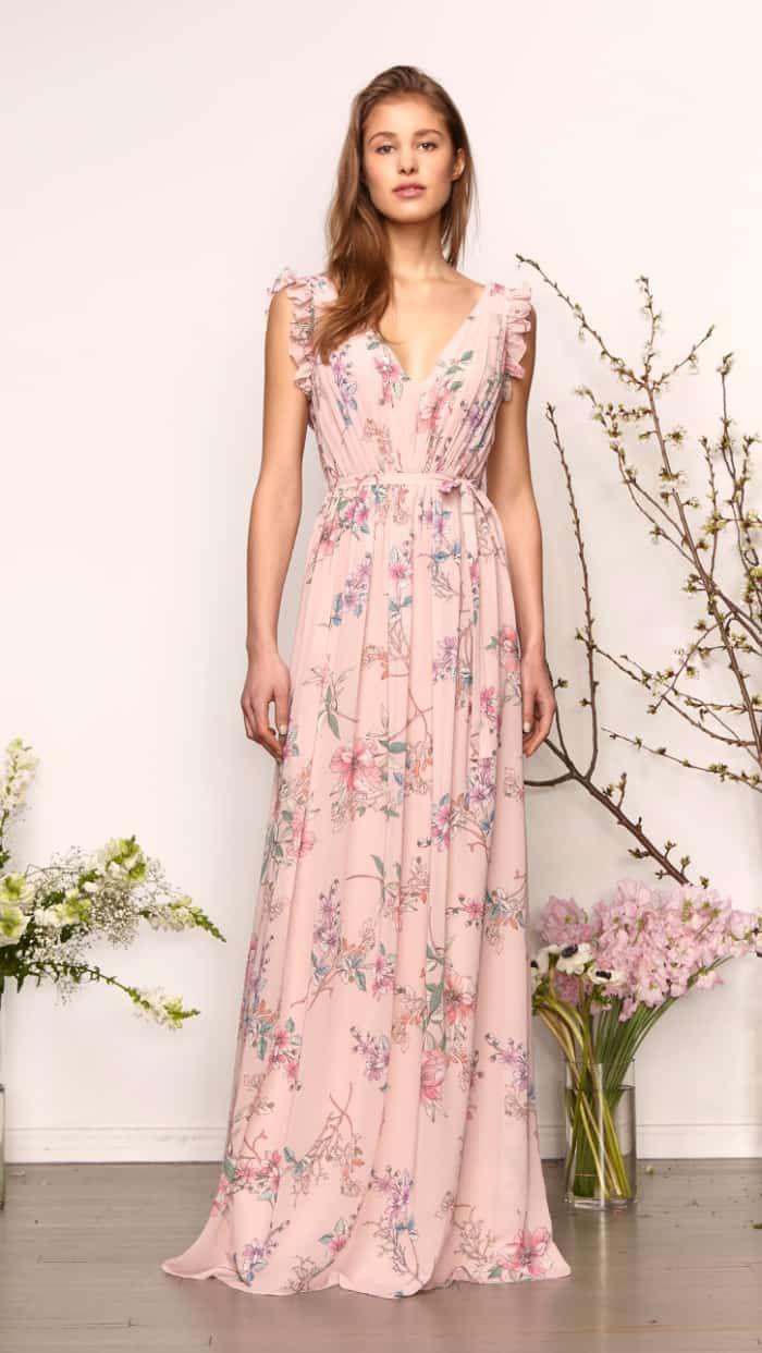 966c4d15372 Pink floral Monique Lhuillier bridesmaid dresses Spring 2019  bridemaids   bridesmaiddresses  pinkfloral  moniquelhuillier