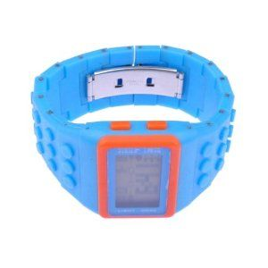 BestDealUSA Fashion Blue Building Block Student Unisex Electronic Wrist Watch by BestDealUSA. $7.51. Dial type: square. 100 % Brand New & High Quality & Cheap. Movement Type: Electronic. Condition: New. Watch types: on the table. Color: as you see Strap Material?ABS plastic Function:Calendar?Stopwatch?Week Description: Lot of new variety of colors you can mix and match the watch, ha, good-looking and very tide! Watch women, men can wear! Couples can be equipped with tables, is...