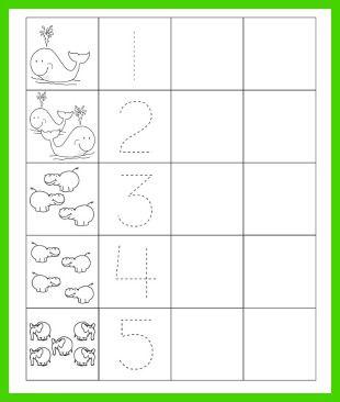 preschool math trace and write numbers worksheet here s a preschool classroom pinterest. Black Bedroom Furniture Sets. Home Design Ideas
