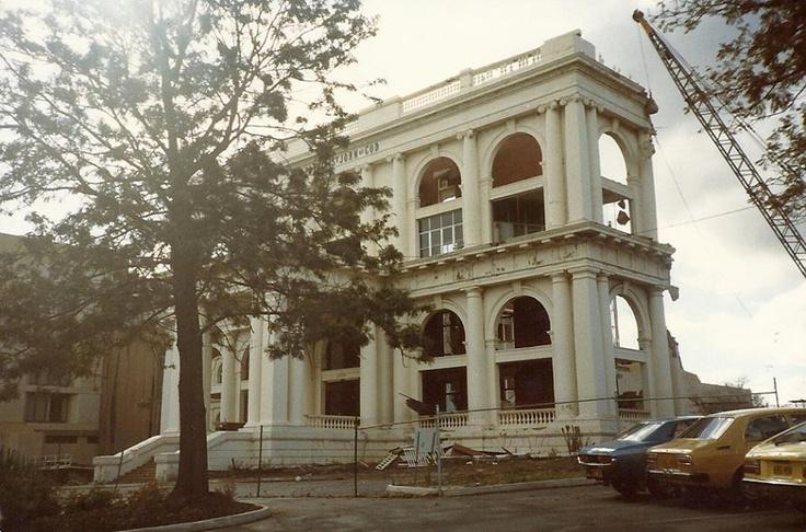 Demolition of buildings at St John of God Hospital, Subiaco, 1983.