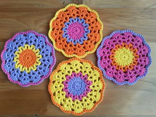Zillie's NZ: Gallery of Items I have Made Lace Flower Crochet Coaster Mats
