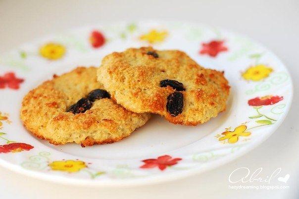 Овсяно - творожное печенье.