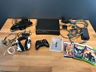Microsoft Xbox 360 120GB Elite Black Console Bundle Kinect Turtle Beach X31 Game