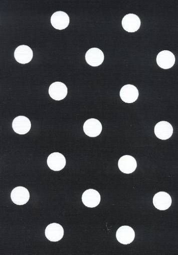 Outdoor+Polka+Dot+Ebony Replacement Fabric For Chairs