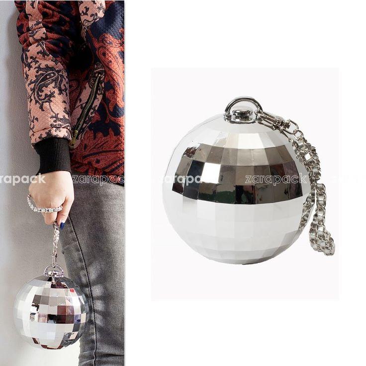 Designer Crystal Ball Round Hard Case Evening Clutch Handbag Wedding Wristlet  #Unbranded #Clutch