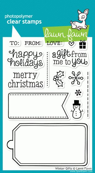 Winter Gifts stamp set from the Lawn Fawn blog