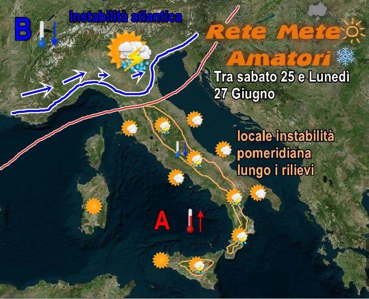 L'alta pressione che ci sta regalando giornate di bel tempo e calde avrè un lieve indebolimento questo fine settimana, in particolare al Nord, dove torneranno ad affluire correnti umide atlantiche,...