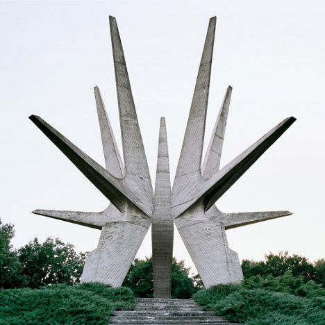These images by Belgian photographer Jan Kempenaers document a series of ruined World War Two monuments dotted across the landscape of the f...