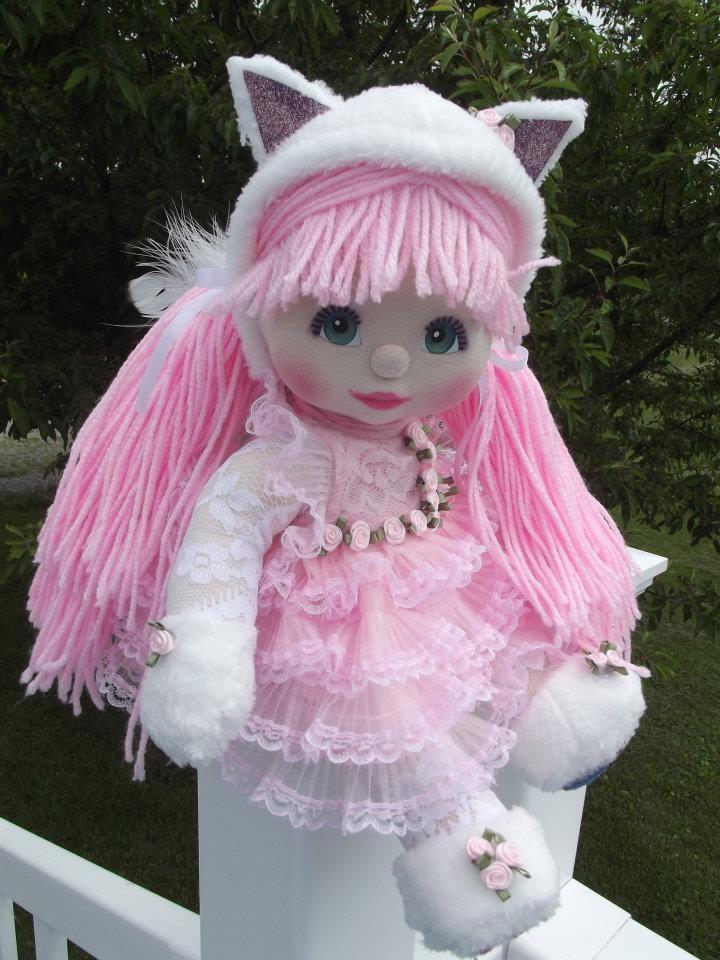 OOAK Mattel My Child Doll -- Little Pink Kitty