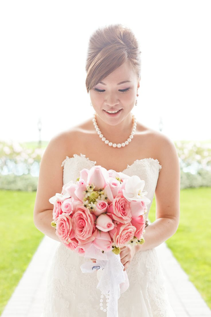 Modern rustic pink bouquet