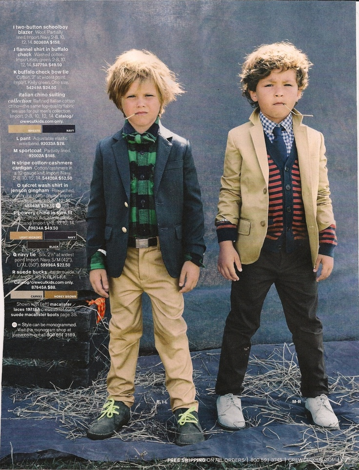 these are good men's looks for any age    (J.Crew Kids)