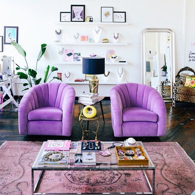 Purple Sofa, Purple Furniture, Purple Decor, Living room, Decor, Room Makeover, Modern Decor, Contemporary Furniture, Mid Century Furniture