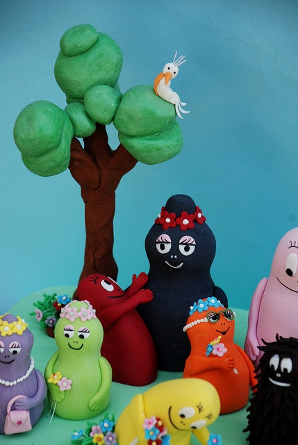 Barbapapa cake family 'and his dog Lolita. by Alessandra Cake Designer, via Flickr