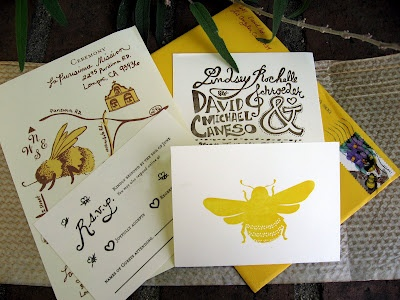 Honeybee Wedding Invitation Suite Bee InvitationsInvitation IdeasInvite SuiteBumble