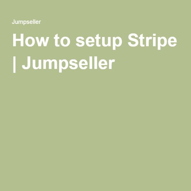 How to setup #Stripe | Jumpseller