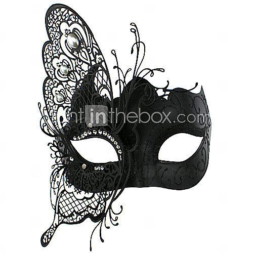 2016年 蝶の妖精スタイルブラックメタルハロウィン仮面舞踏会マスク コレクション – ¥2610